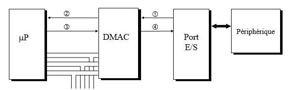 Accès direct mémoire par arrêt du processeur
