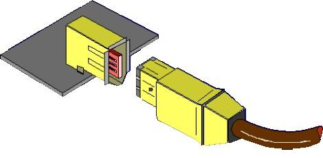 Les connecteurs du câble IEEE 1394