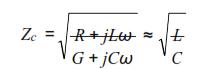 inductance linéique et la conductance linéique