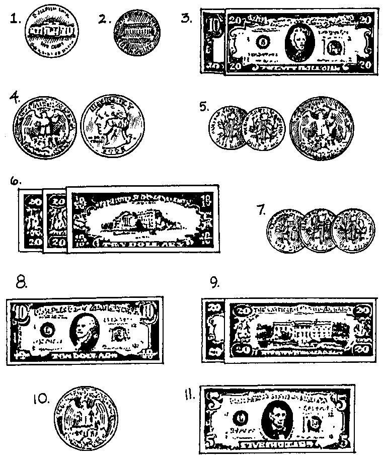 Cours-gratuit-ten dollar bill argent en anglais