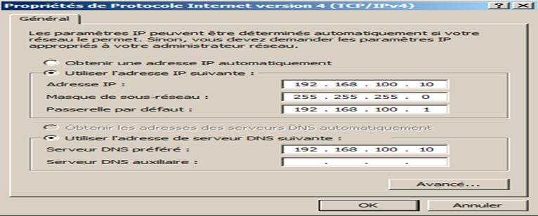 installer le service DNS. serveur DNS