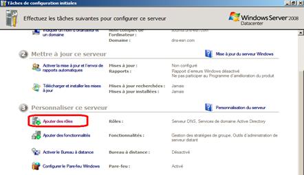 Installation du service DNS 1