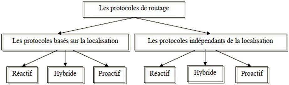 Les protocoles de routage  bases sur la localisation et independants de la localisation